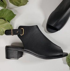 Top Shop Black Open Toe Chunky Heel Sandals